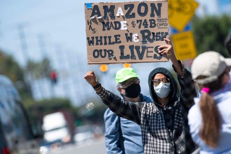 Image: Amazon worker strike