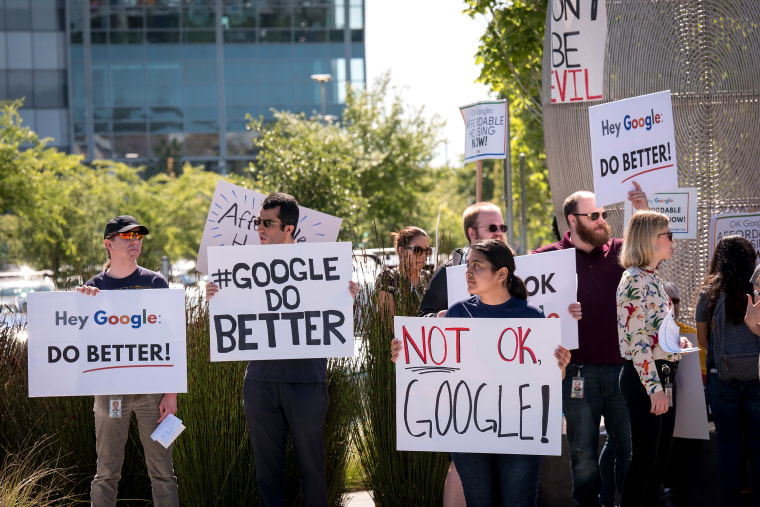 Google Contractors Protest At Alphabet Annual Meeting