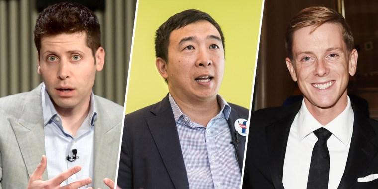 Sam Altman, Andrew Yang and Chris Hughes.