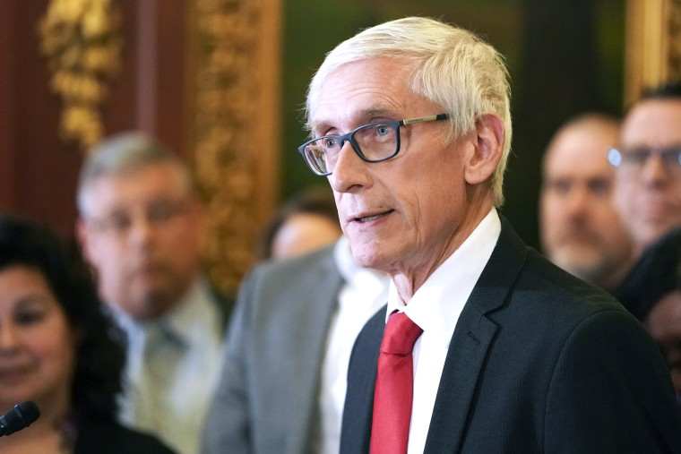 Wisconsin Gov. Tony Evers at a news conference in Madison on Feb. 6, 2020.