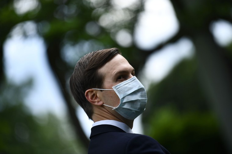Image: Jared Kushner during President Donald Trump's news conference on the coronavirus in the Rose Garden