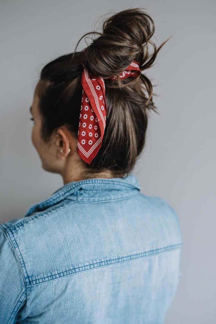 Bandana around top knot