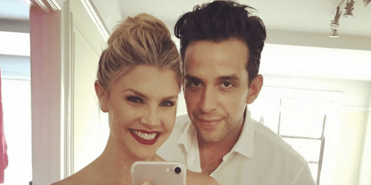 Amanda Kloots and Nick Cordero in a selfie prior to his coronavirus diagnosis.