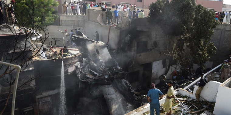 Image: TOPSHOT-PAKISTAN-AVIATION-ACCIDENT