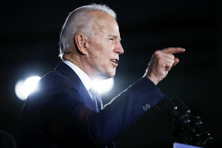 Image: Joe Biden speaks at a campaign rally in Columbia, S.C., on Feb. 29, 2020.