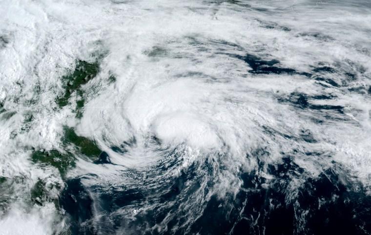 Image: Hurricane Arthur off the east coast of the United States on May 18, 2020.