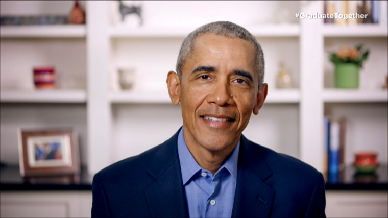 Image: Barack Obama delivers a virtual commencement address on May 16, 2020.