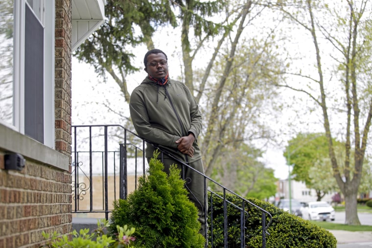 James Carter outside his home in Chicago.