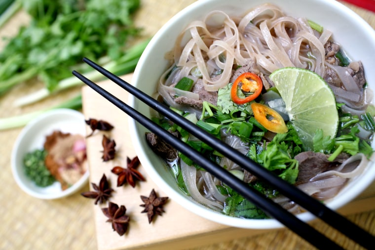 Brown rice gluten-free pho noodles.