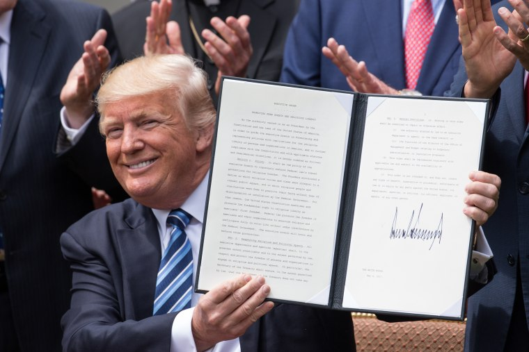 Image: President Trump Signs Executive Order on Promoting Free Speech and Religious Liberty