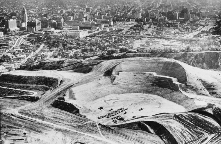 Chavez Ravine Dodger Stadium excavation