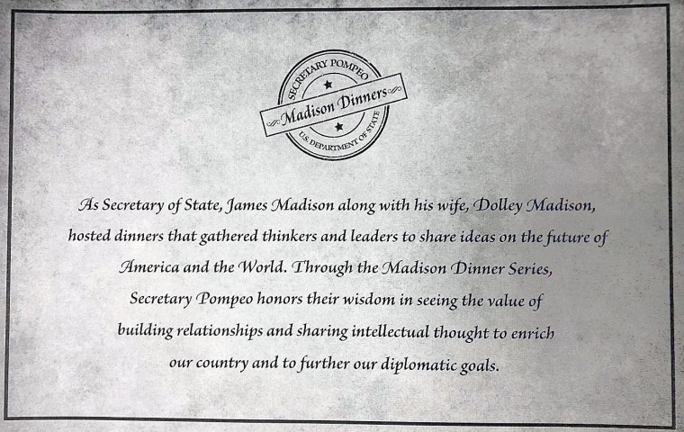 IMAGE: A Madison Dinner invitation