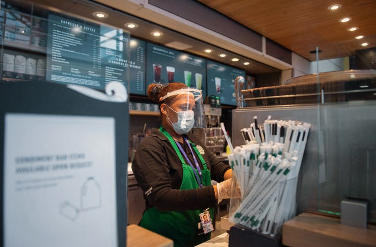 As Starbucks locations reopen nationwide, workers question why they should risk their life 'for a frappuccino'