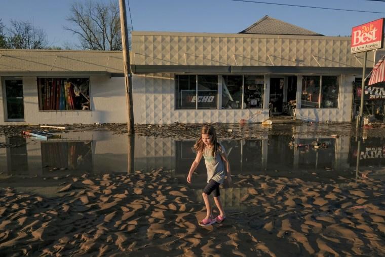 Image: Two Dams Burst Flooding Town Of Midland, Michigan
