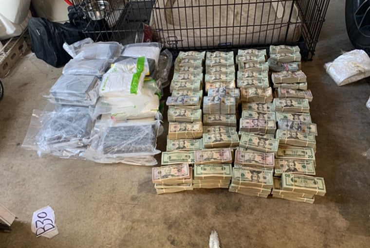 Part of a $1 million seizure in the Los Angeles area.
