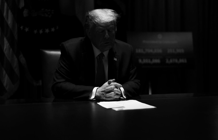 Image:President Donald Trump during a meeting in the Cabinet Room of the White House