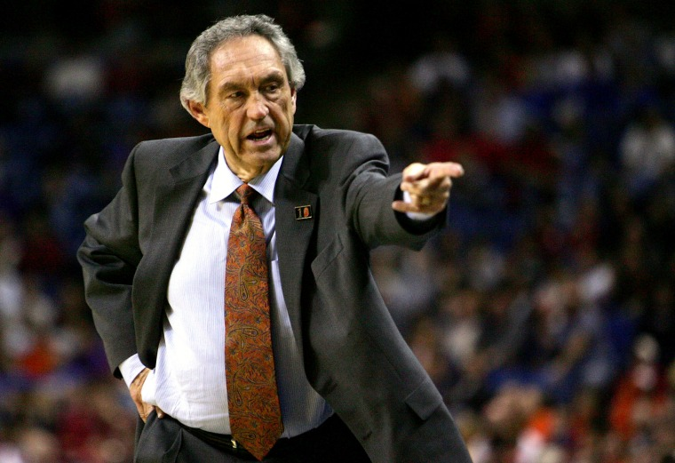 Image: Oklahoma State head coach Eddie Sutton during a game in Kansas City, Mo., in 2005.
