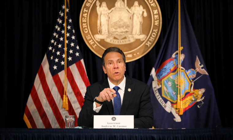 Image: New York Governor Andrew Cuomo at a press conference in New York City on May 21, 2020.