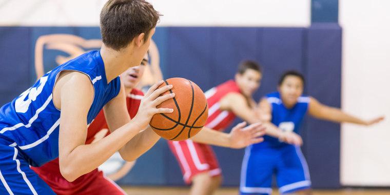 Boys high school basketball team