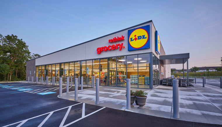 Exterior of a Lidl store