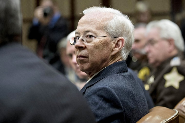 Image: Dana Boente, acting U.S. attorney general, listens during a county sheriff listening session