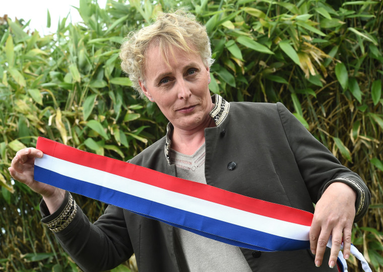 Image: Marie Cau, France's first openly transgender mayor in Tilloy-lez-Marchienne