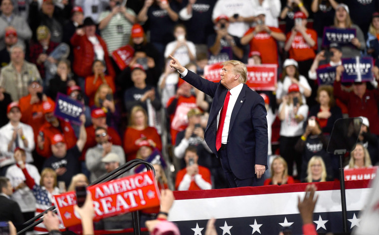President Trump Holds Campaign Rally In Hershey, Pennsylvania
