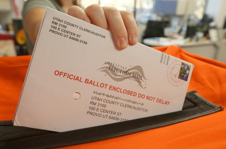 Image: Utah mail in vote ballot