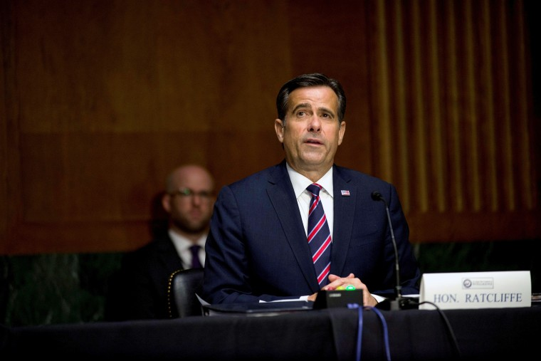 Image: FILE PHOTO: U.S. Rep. John Ratcliffe testifies before a Senate Intelligence Committee nomination hearing on Capitol Hill in Washington