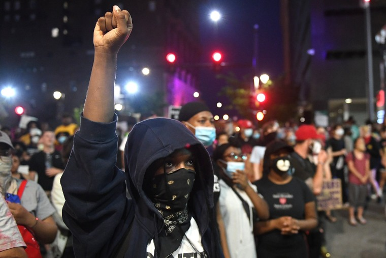 Image: Demonstrations Over Death Of George Floyd, Killed In Police Custody In Minneapolis, Erupt In St. Louis