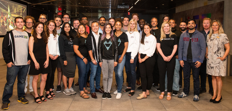 The LIFT Labs team with the 2019 LIFT Labs Accelerator class. LIFT Labs is the front door for global startup founders looking to partner with or get feedback from Comcast NBCUniversal.