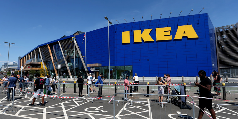 Image: Ikea Reopens Stores In England And Northern Ireland As Coronavirus Lockdown Eases
