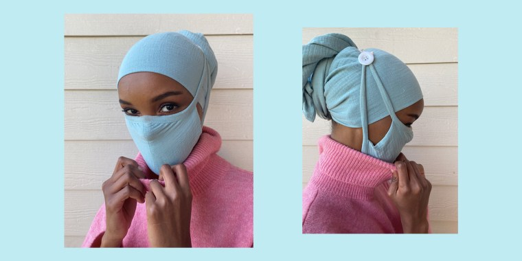 The inclusive line of masks provides a comfortable option for those who wear turbans or hijabs.