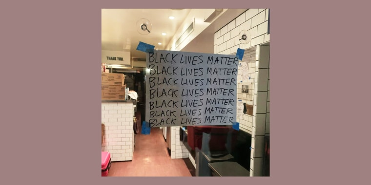 Superiority Burger, a vegetarian eatery in New York, whose storefront is shown here, announced on Instagram that it would be donating all of the income from its most profitable day this week to the Black Visions Collective.