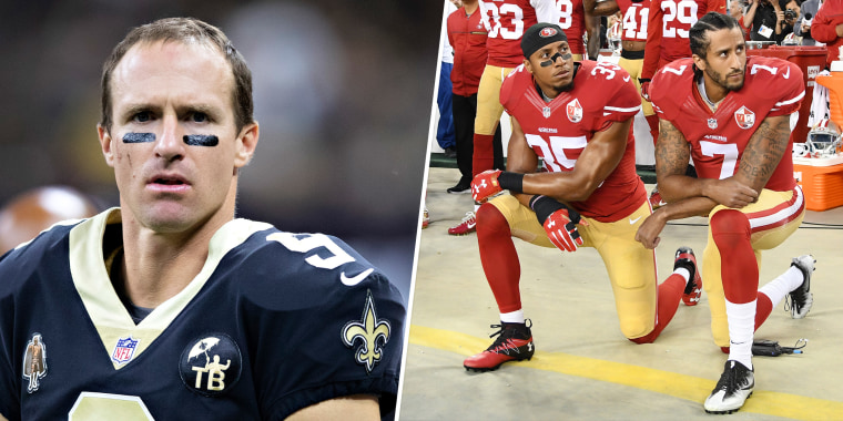 Brees had previously said he disagreed with Colin Kaepernick's form of protest.
