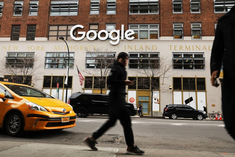 Image: Google's New York office is shown in lower Manhattan on March 5, 2018 in New York City.