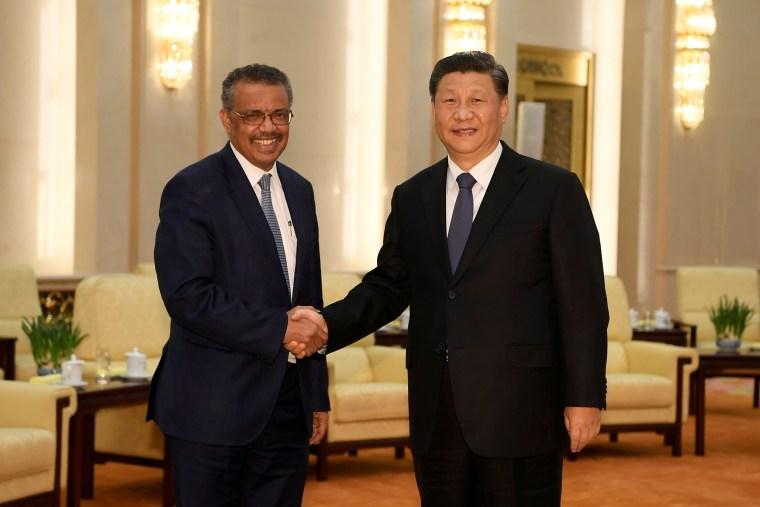 Image: Tedros Adhanom and Xi Jinping