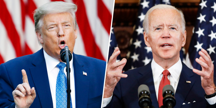 The election is shaping up to be a referendum on whether President Donald Trump or apparent Democratic nominee Joe Biden would better handle a crisis.