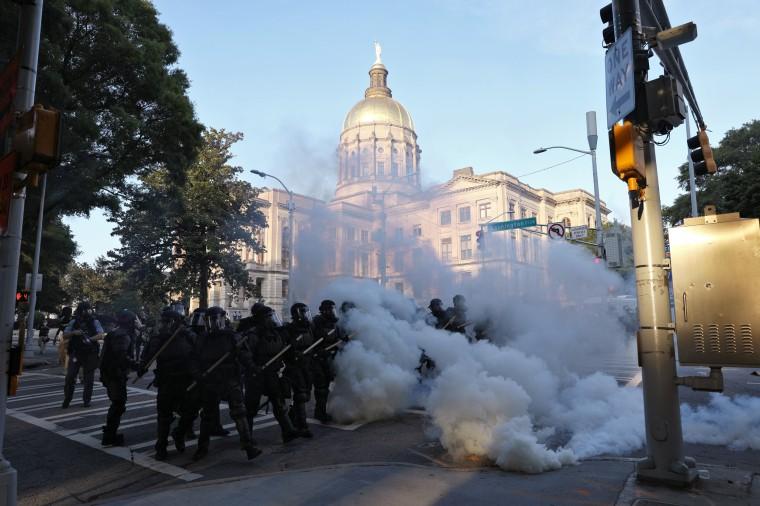 Image: Atlanta protest tear gas