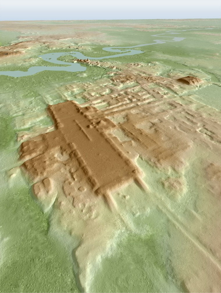 A 3D image of the site of Aguada Fenix based on lidar.