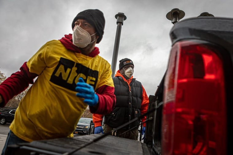 IMAGE: NICE 'relief brigade' members