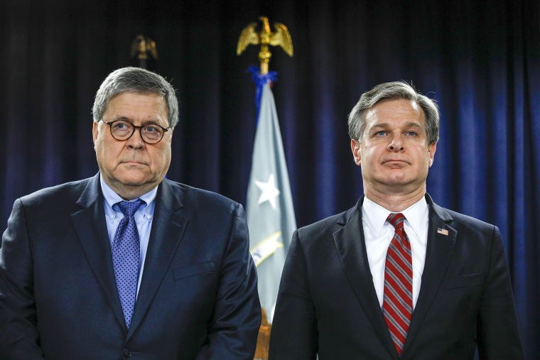 Attorney General William Barr And FBI Director Christopher Wray Announce Crime Reduction Initiative In Detroit