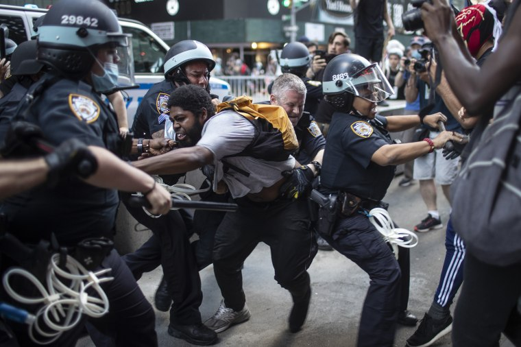 Image: NYPD protest