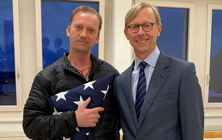 Image: Michael White with U.S. Special Envoy for Iran Brian Hook