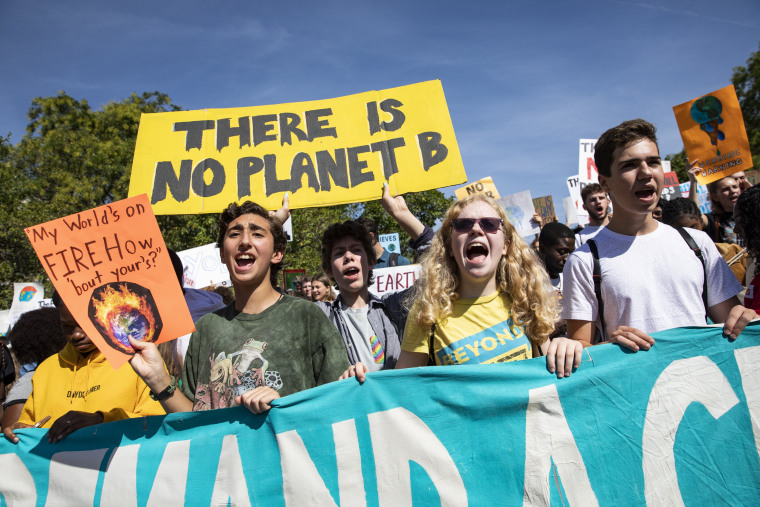 Image: Climate protest in Washington, D.C.