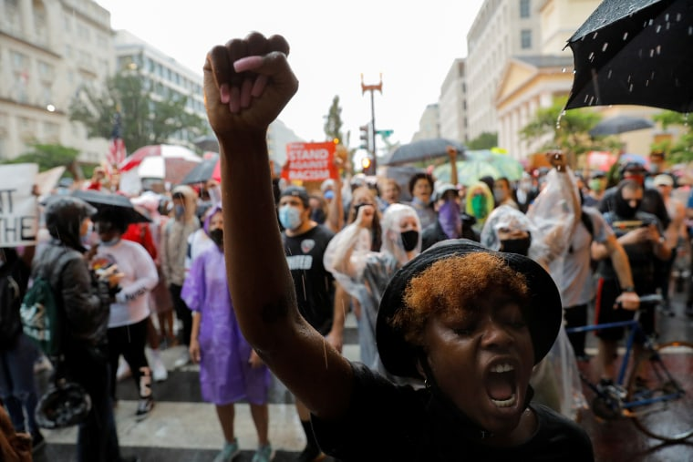 Image: Protest against the death in Minneapolis police custody of George Floyd, in Washington