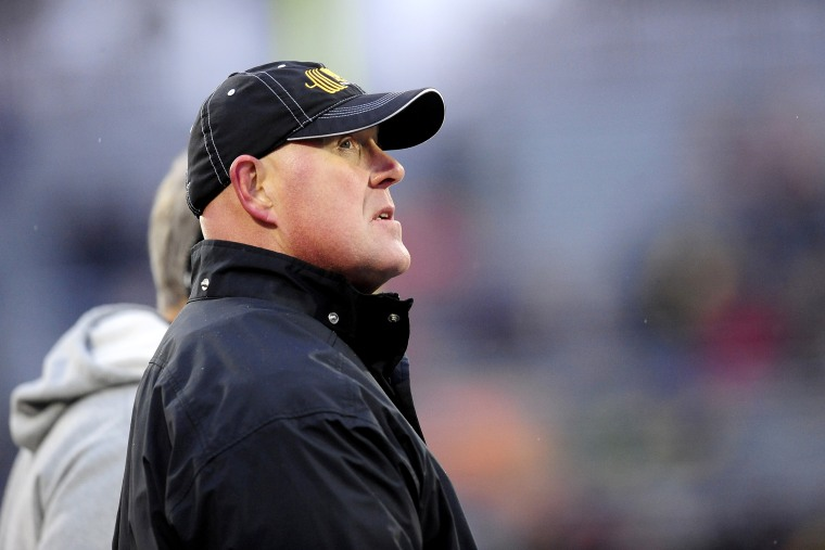 Image: Iowa Hawkeyes coach Chris Doyle during a game in Illinois in 2018.