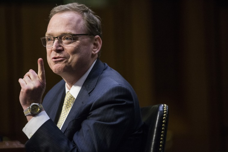 Image: Kevin Hassett, chairman of the Council of Economic Advisers, speaks during a Joint Economic Committee hearing in Washington on March 7, 2018.