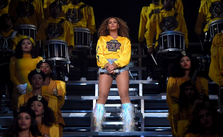 Image: Beyonce performs at the Coachella Valley Music and Arts Festival in Indio, California, on April 14, 2018.