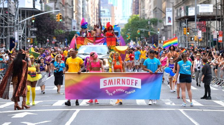 Image: onathan Van Ness Joins SMIRNOFF At The 2018 Pride March To Celebrate Love In All Its Forms